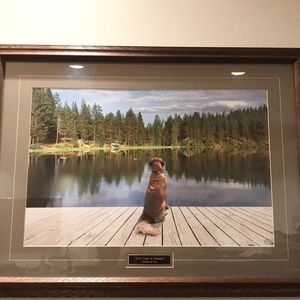 Dock Days of Summer Wood  Framed Wall Picture.